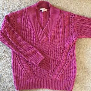 PHILOSOPHY CHUNKY PINK SWEATER